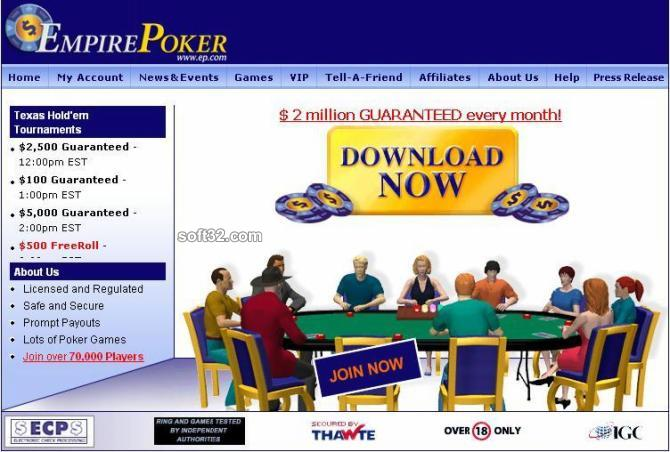 Empire Poker Screenshot 1