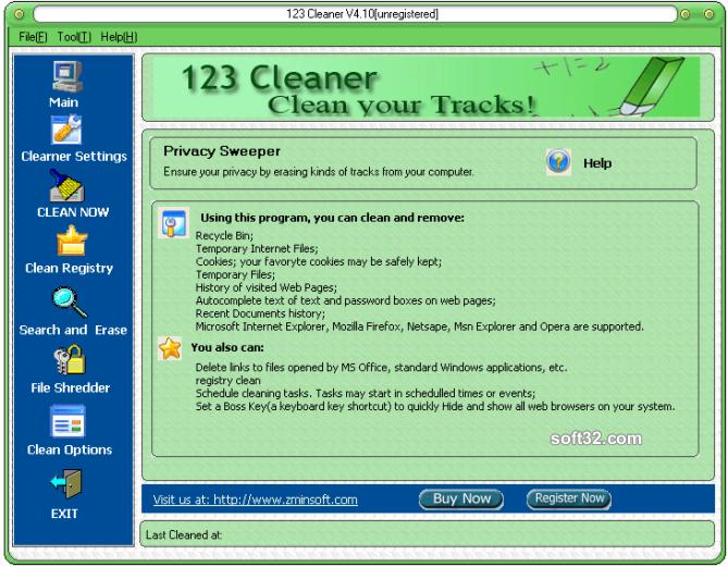 123 Cleaner Screenshot 3