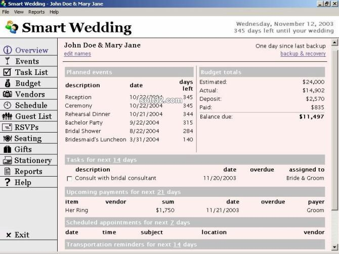 Smart Wedding Screenshot
