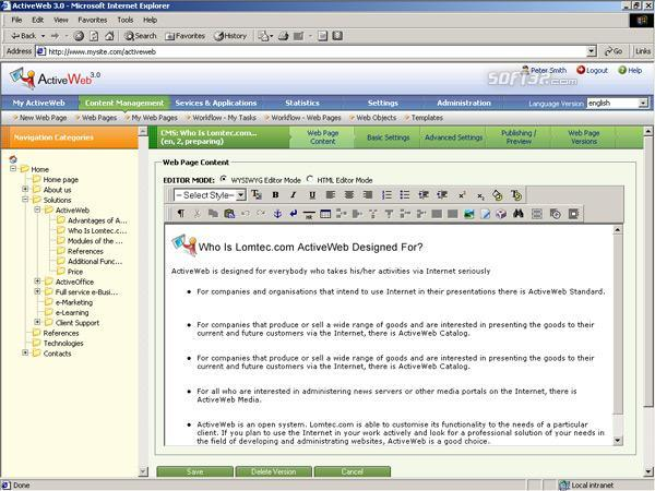 ActiveWeb Professional Screenshot 1