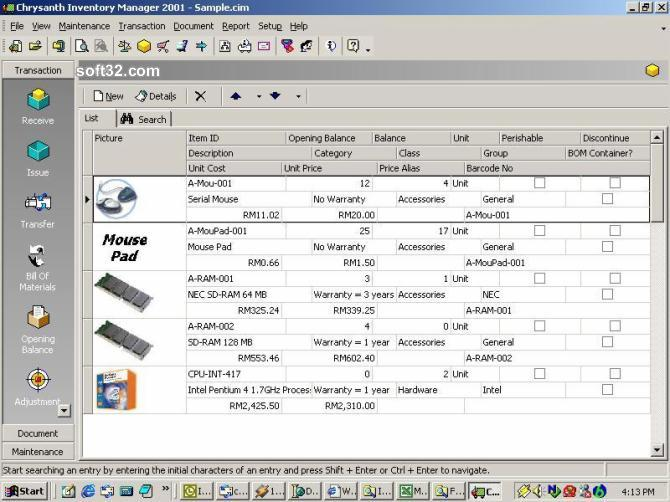 Chrysanth Inventory Manager Screenshot 2
