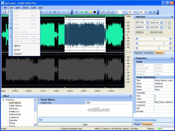 Audio Editor Pro Screenshot 3