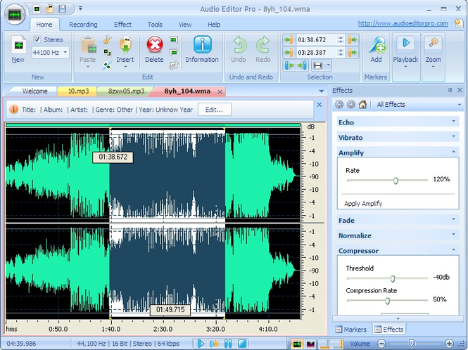 Audio Editor Pro Screenshot 1