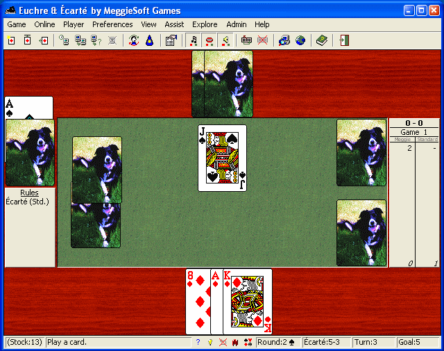 Euchre and Ecarte by MeggieSoft Games Screenshot