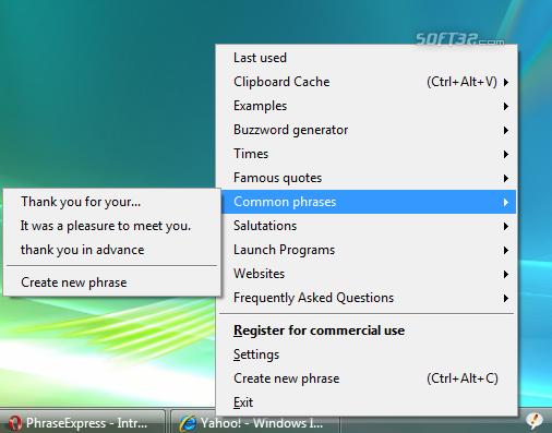PhraseExpress Text Expander Screenshot 2