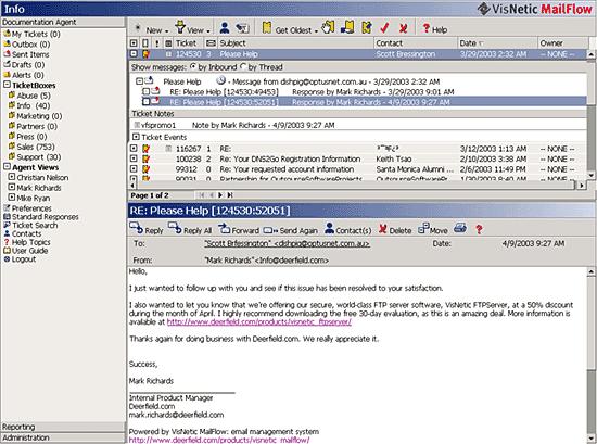 VisNetic MailFlow Screenshot