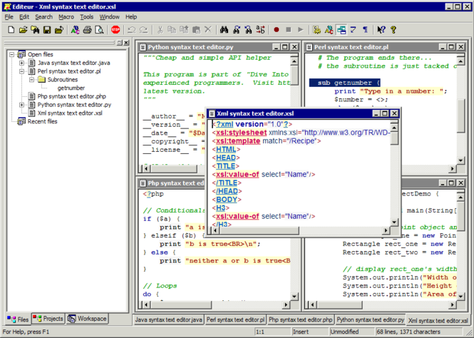 EditeurX Screenshot
