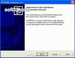 MySQL-to-Access Screenshot 3