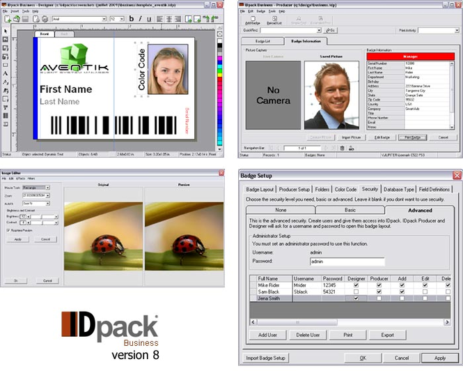 IDpack Business ID Card Software Screenshot 3