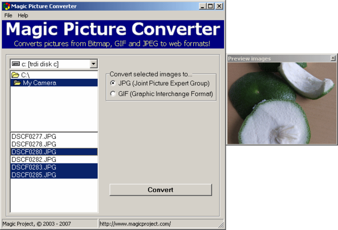 Magic Picture Converter Screenshot 1