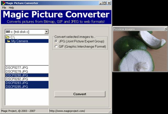 Magic Picture Converter Screenshot
