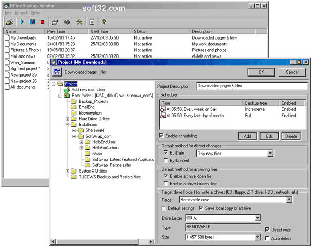 DFIncBackup Home Screenshot 3