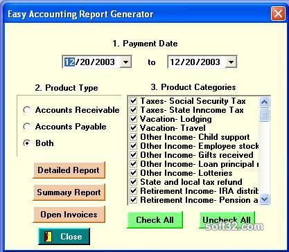 EasyAccounting(tm) Screenshot