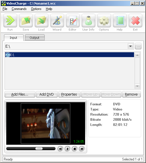 Videocharge Screenshot