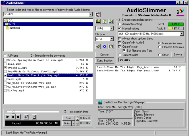 AudioSlimmer Screenshot