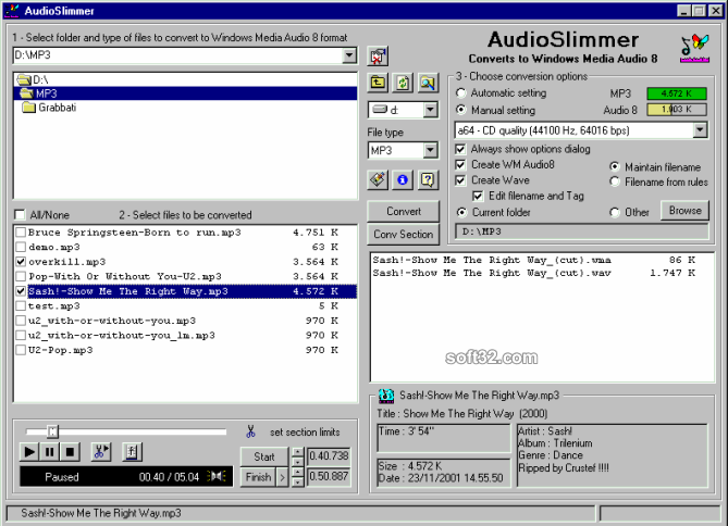 AudioSlimmer Screenshot 2