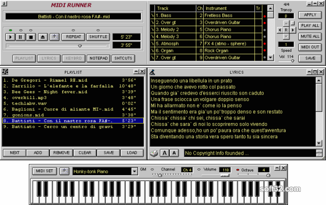 MidiRunner Screenshot