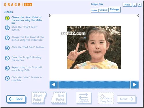 DRAGRI Lite Web Video Authoring Screenshot