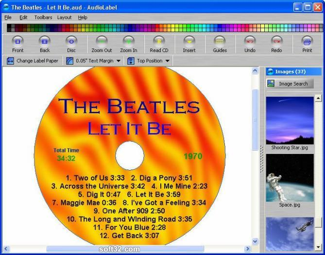 AudioLabel CD/DVD/LightScribe Labeler Screenshot 2