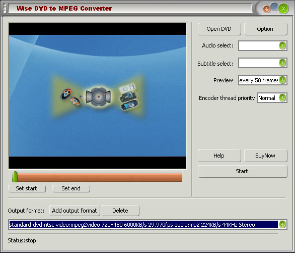 Wise DVD to AVI Converter Screenshot