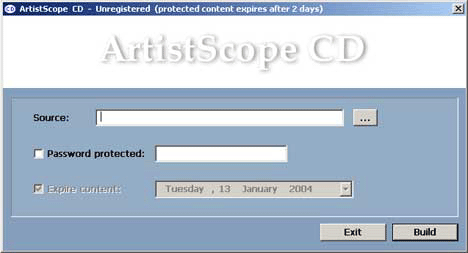 ArtistScope CD Screenshot