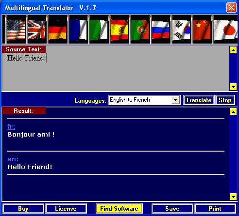 Multilingual Translator Screenshot