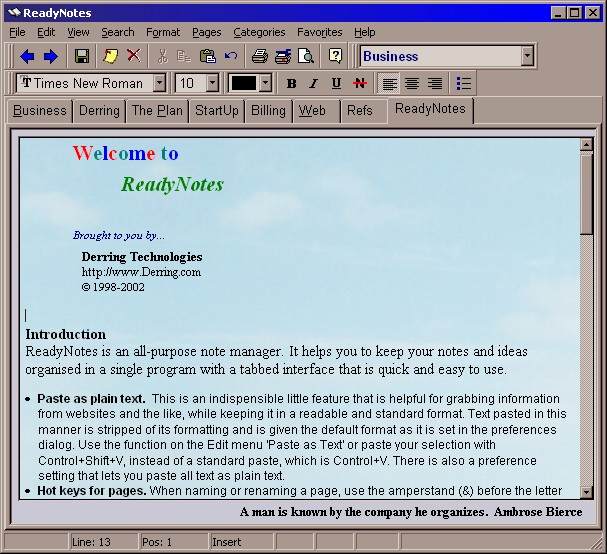 ReadyNotes Screenshot