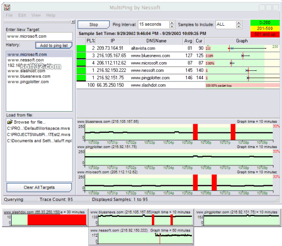 MultiPing Screenshot 2