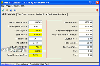 Free Mortgage APR Calculator Screenshot 2