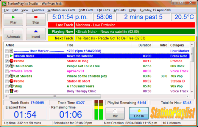 StationPlaylist Studio Screenshot