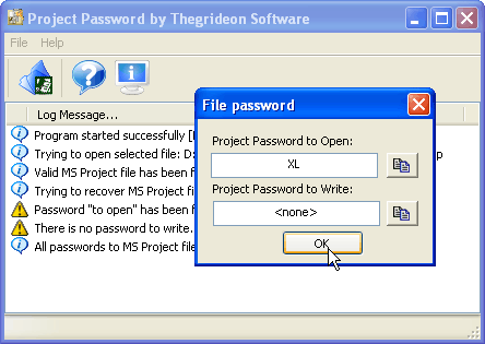 Project Password Screenshot