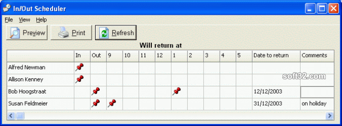 CyberMatrix In Out Scheduler Screenshot 3