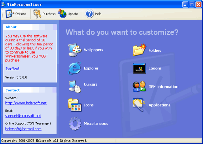 WinPersonalizer Screenshot 1