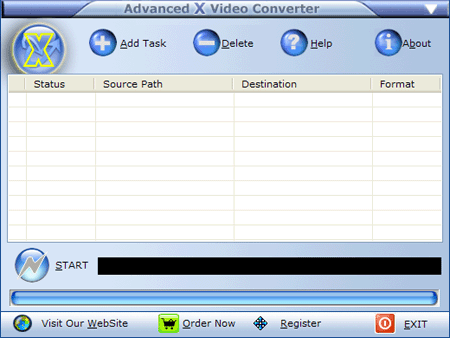 Advanced X Video Converter Screenshot