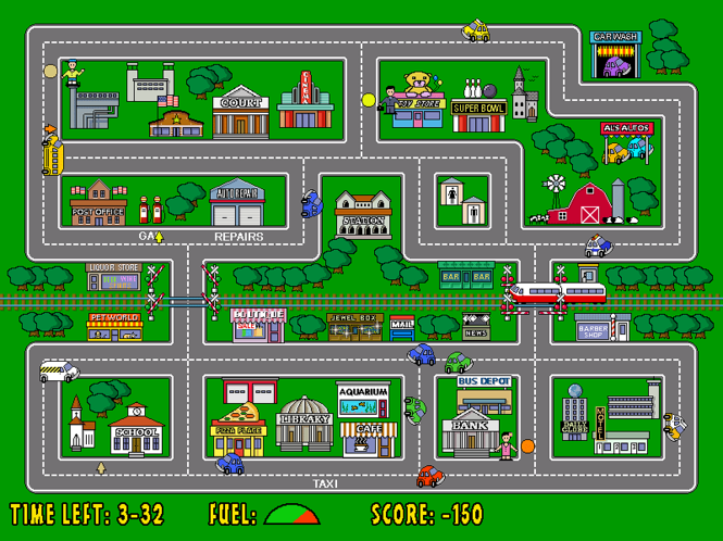 Turbo Taxi Screenshot 1
