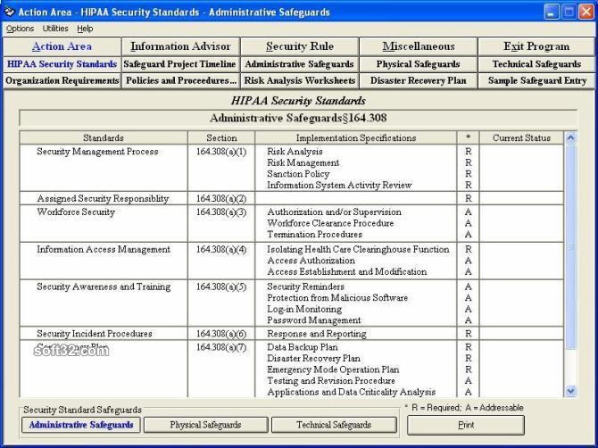 HIPAA Security Rule Assistant Screenshot 2
