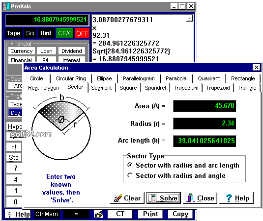 ProKalc Screenshot 2