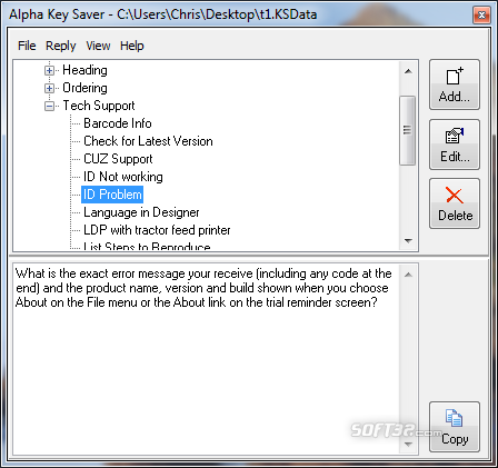 Alpha Key Saver Screenshot 2