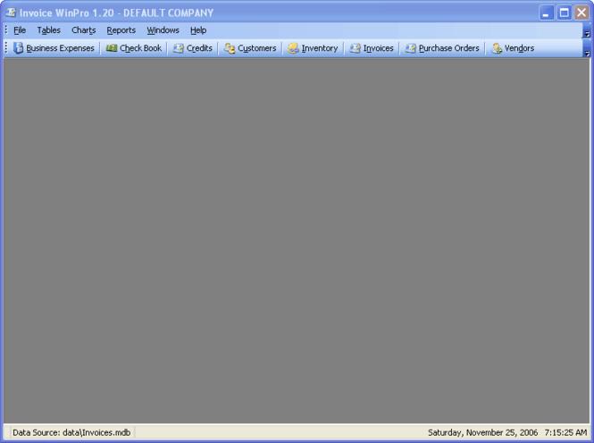 Invoice! WinPro Screenshot 1