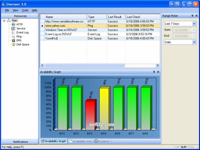 Overseer Network Monitor Screenshot 2