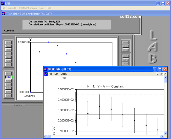 LAB Fit Curve Fitting Software Screenshot 5