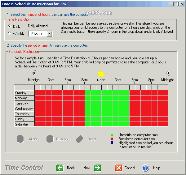KidsWatch Time Control Screenshot 2