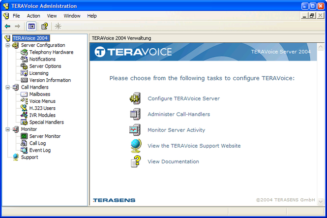 TERAVoice Server Screenshot 1