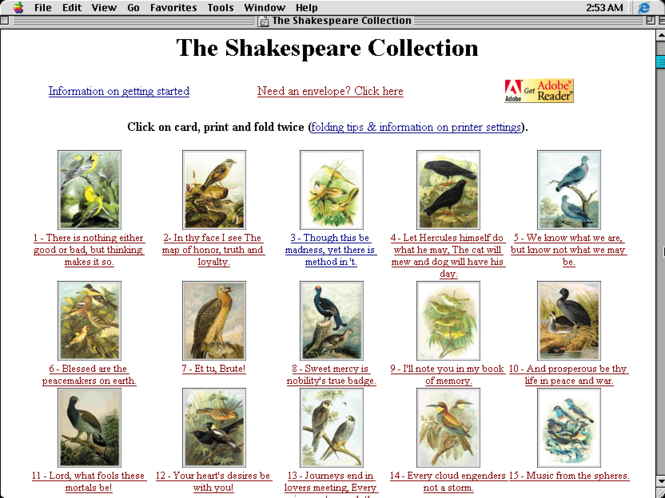 The Shakespeare Collection Screenshot