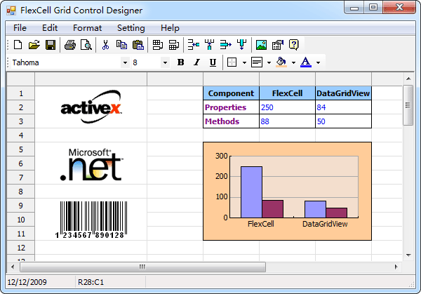 FlexCell Grid Control Screenshot