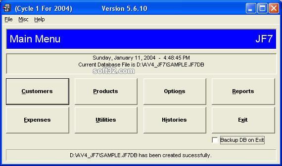 JF7 Software for Jafra Consultants Screenshot 1