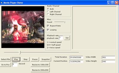 Movie Player Pro ActiveX Control Screenshot
