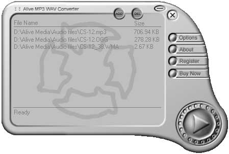 Alive MP3 WAV Converter Screenshot