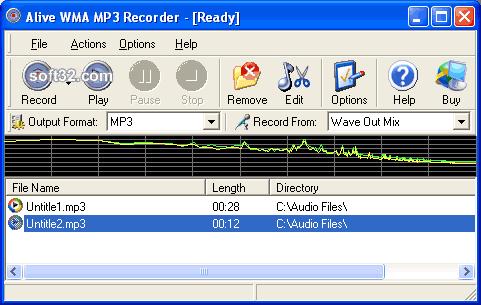 Alive WMA MP3 Recorder Screenshot 2