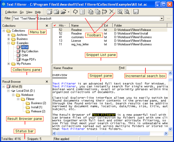 Text Filterer Screenshot 1